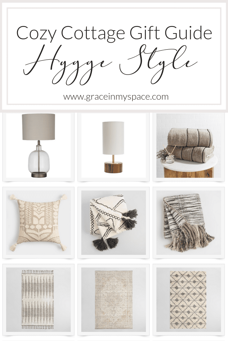 Do you love the cozy cottage home decor style? Today I have a hygge decor gift guide on the blog for all of you cozy loving friends. #hyggedecor #giftideas #cozyhome