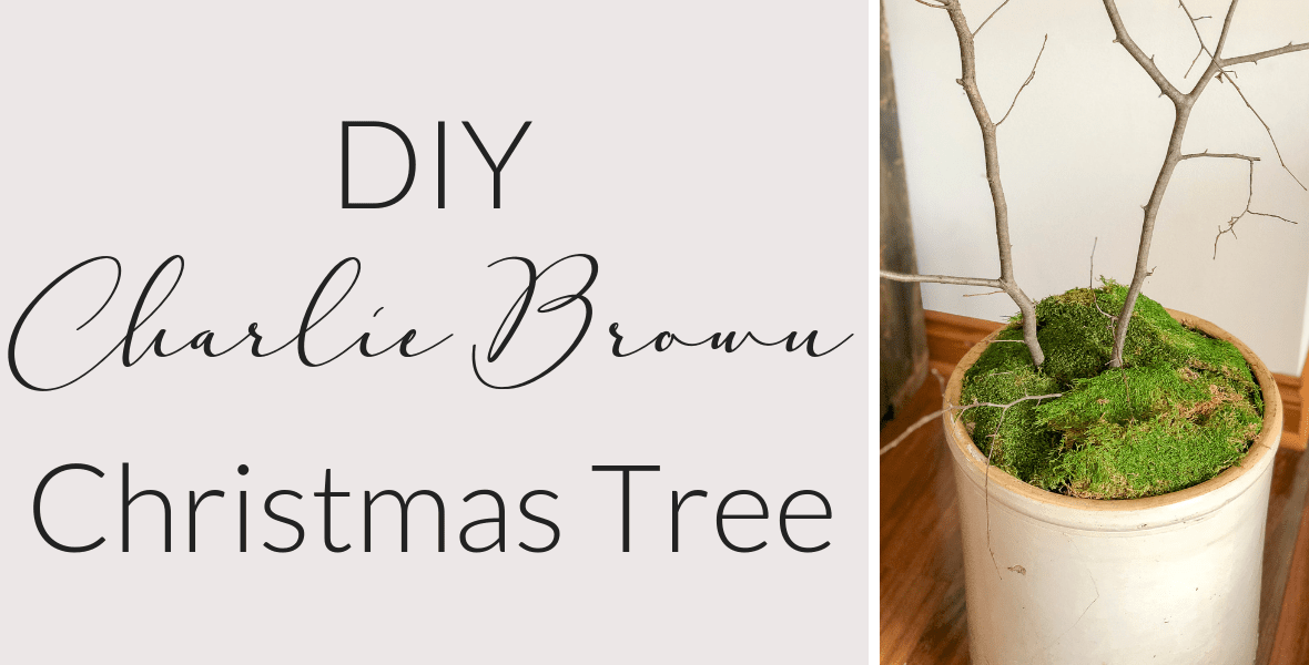 Don't have space for a Christmas tree? Make a DIY tree to display your favorite ornaments! Make your own Charlie Brown Christmas tree with this tutorial. #charliebrowntree #christmastree