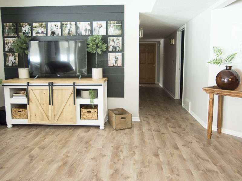 Modern Farmhouse Basement Flooring