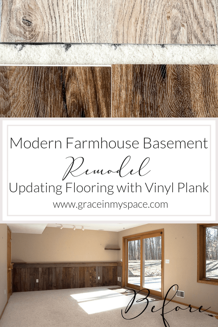 Are you looking for ideas to update your basement? Read more to see simple ways to transform your space into the modern farmhouse basement of your dreams. #modernfarmhouse #basementremodel