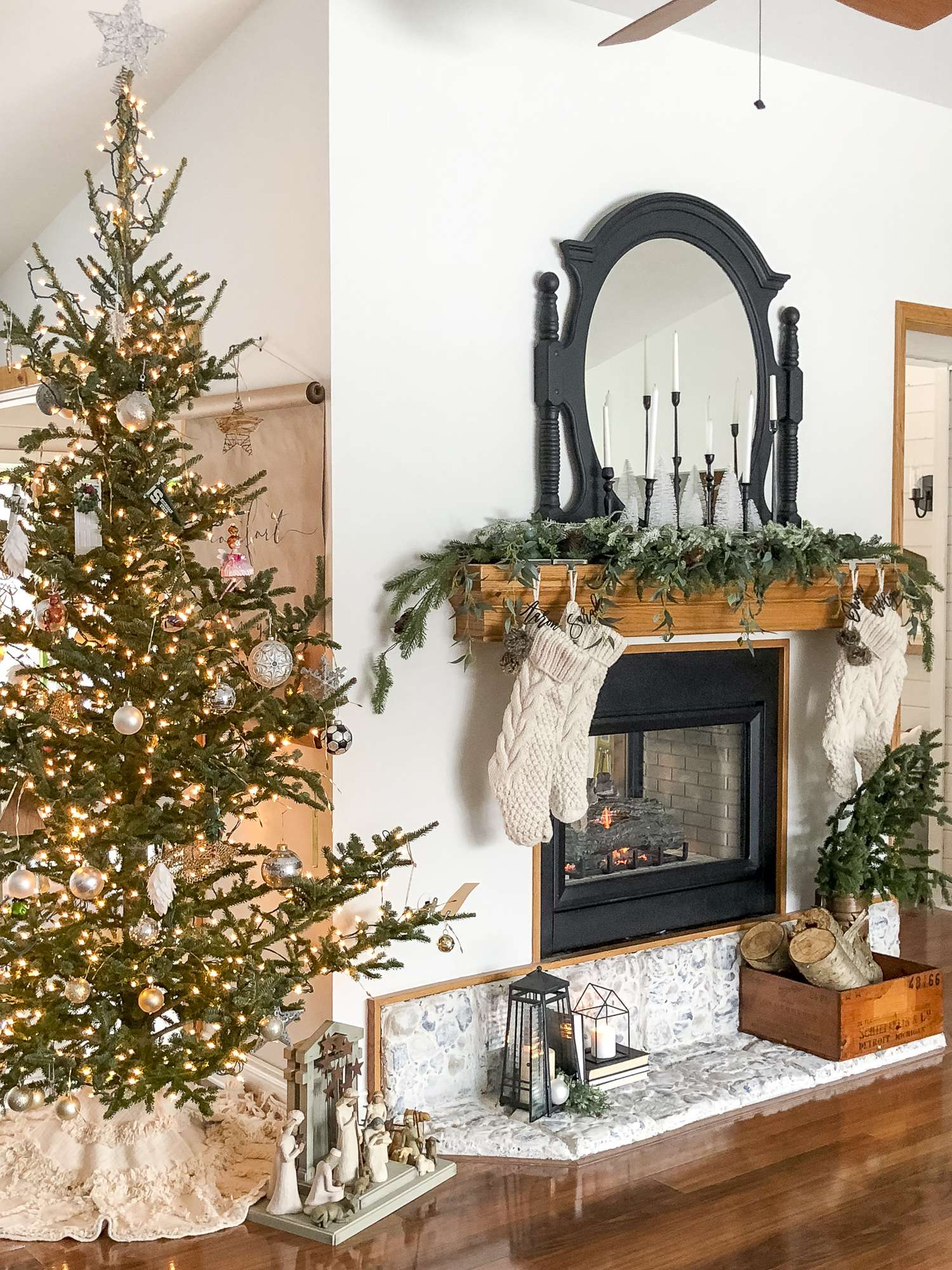 Neutral Modern Farmhouse Christmas Decorations Grace In My Space