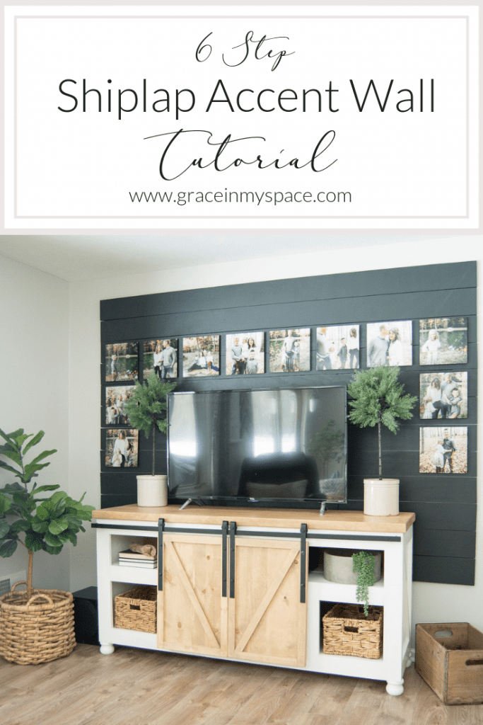 Black Shiplap Accent Wall Diy Tutorial Grace In My Space
