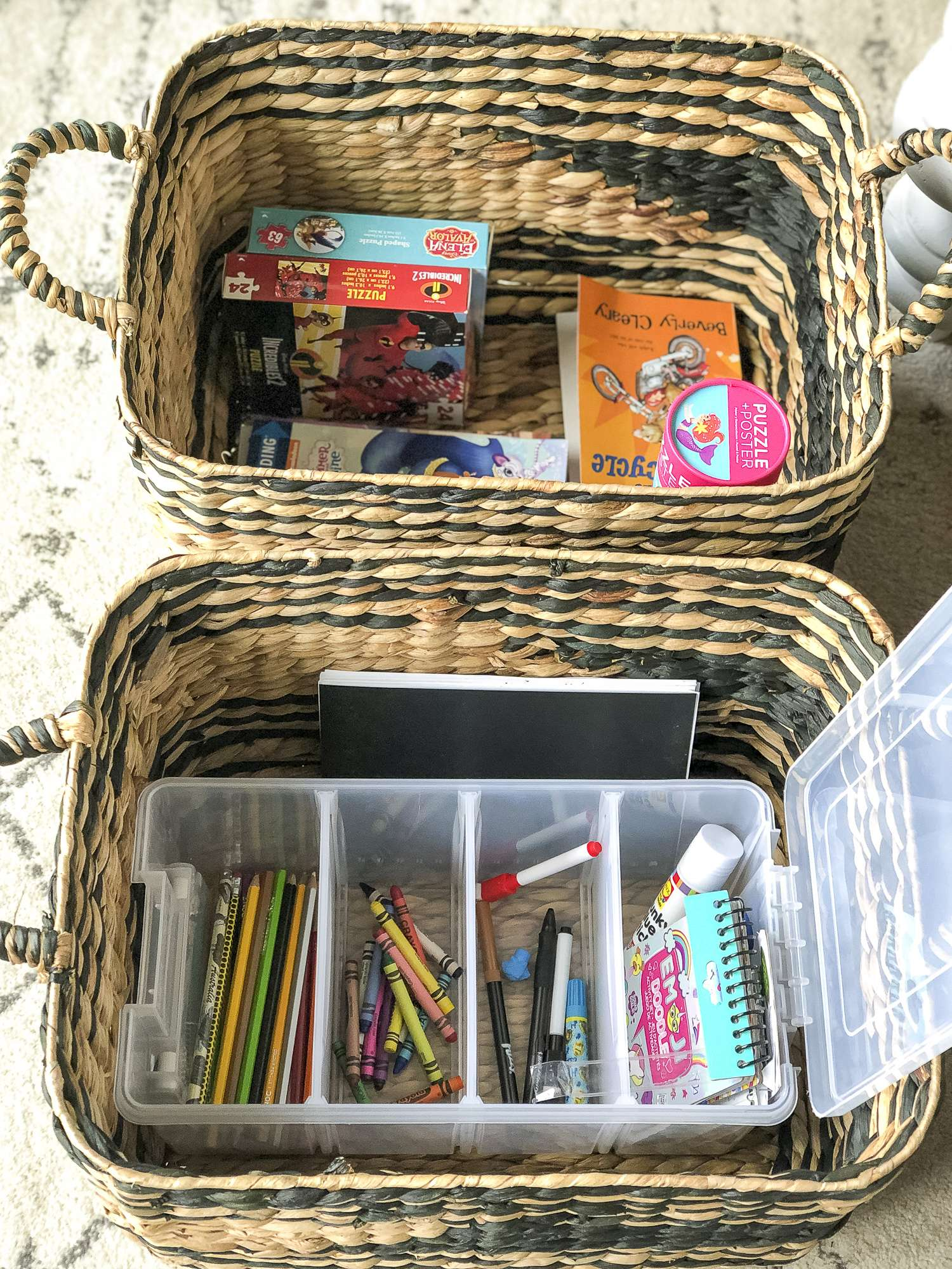 How to Hide Kid's Craft Storage in Plain Sight | Grace In ...
