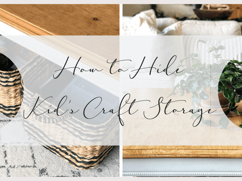 How to Hide Kid's Craft Storage in Plain Sight