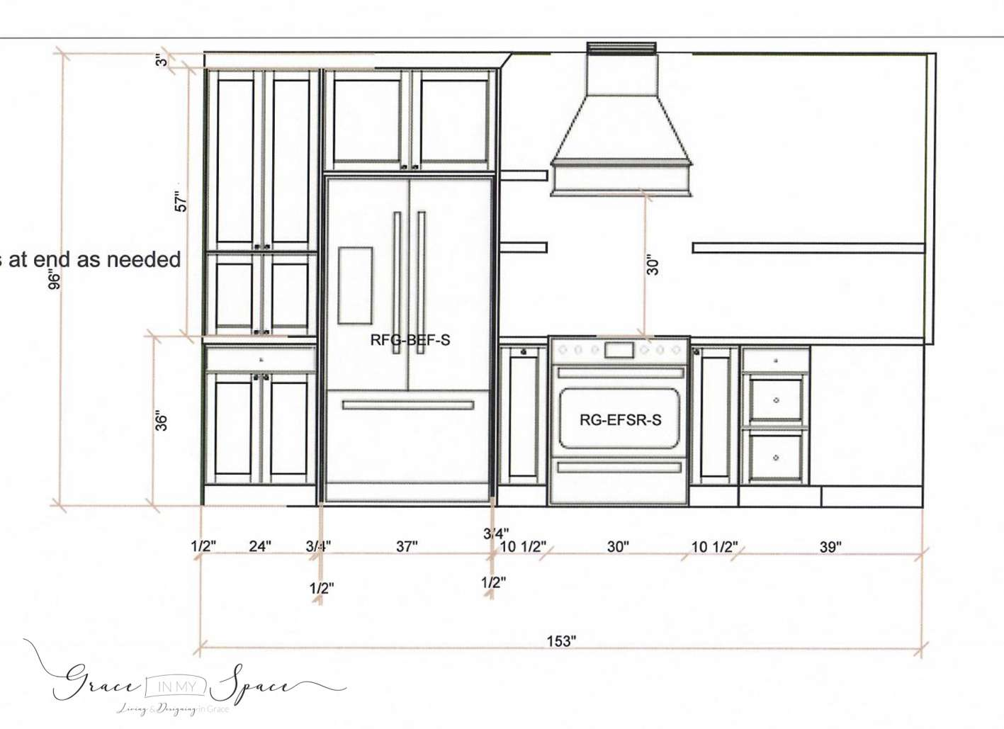 Are you designing a custom kitchen? Today I'm sharing my custom kitchen design plan to help you take first steps in the planning process. #fromhousetohaven #kitchendesign #customkitchen