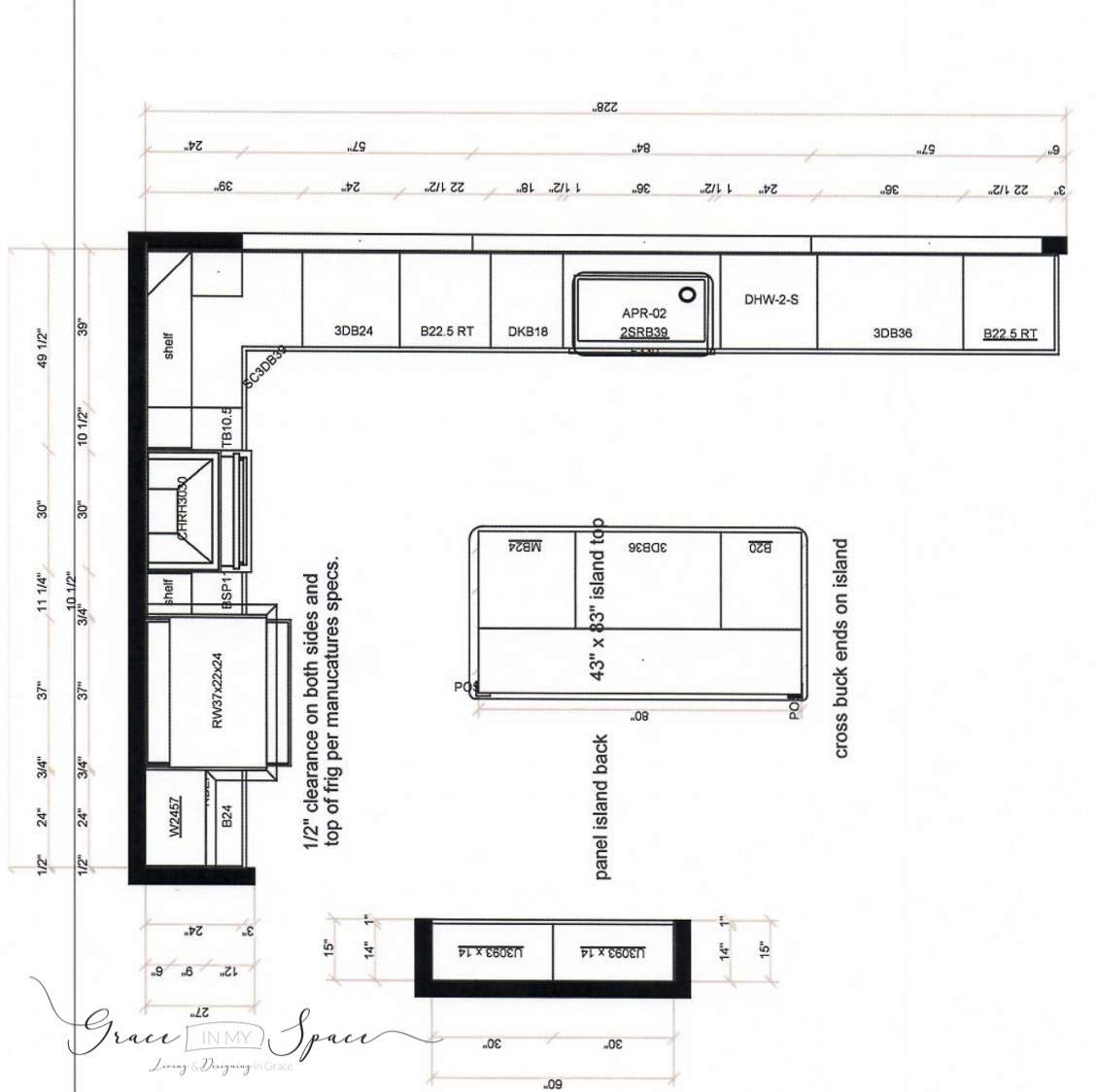 Custom Kitchen Design Plan Grace In My Space