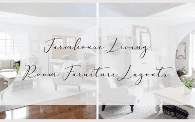 Do you need a change of pace but don't want to break the bank? Change up your layout! Today I'm sharing ways to style farmhouse living room furniture! #fromhousetohaven #livingroomfurniture #livingroomdesign #coffeetable