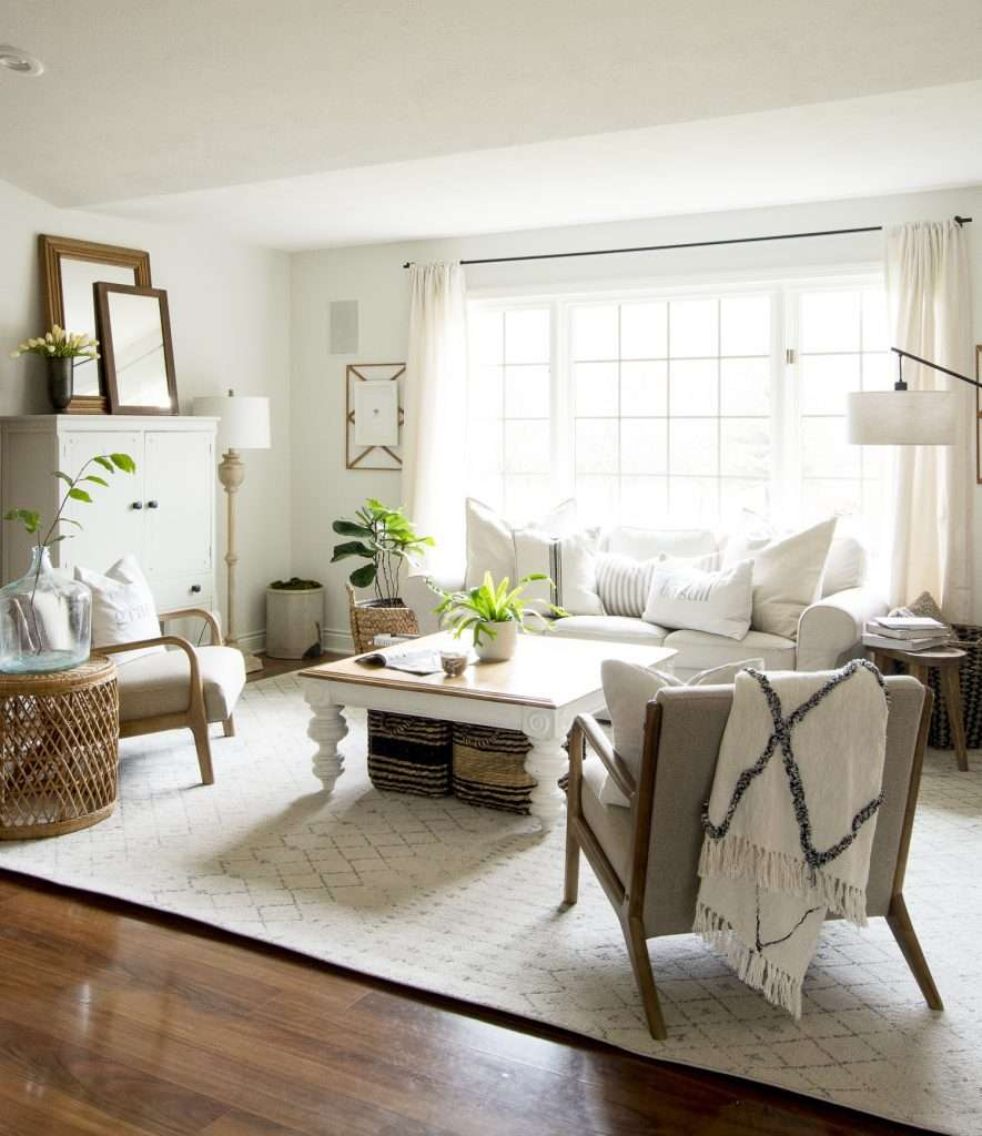 Simple Home Interior Design: How To Get The Modern Farmhouse Living Room Look