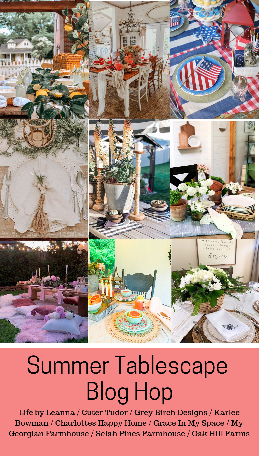 Are you looking for a themed summer tablescape idea? Here are 9 summer tablescapes to be inspired by. #fromhousetohaven #summerdecor #summertablescape #gardenparty
