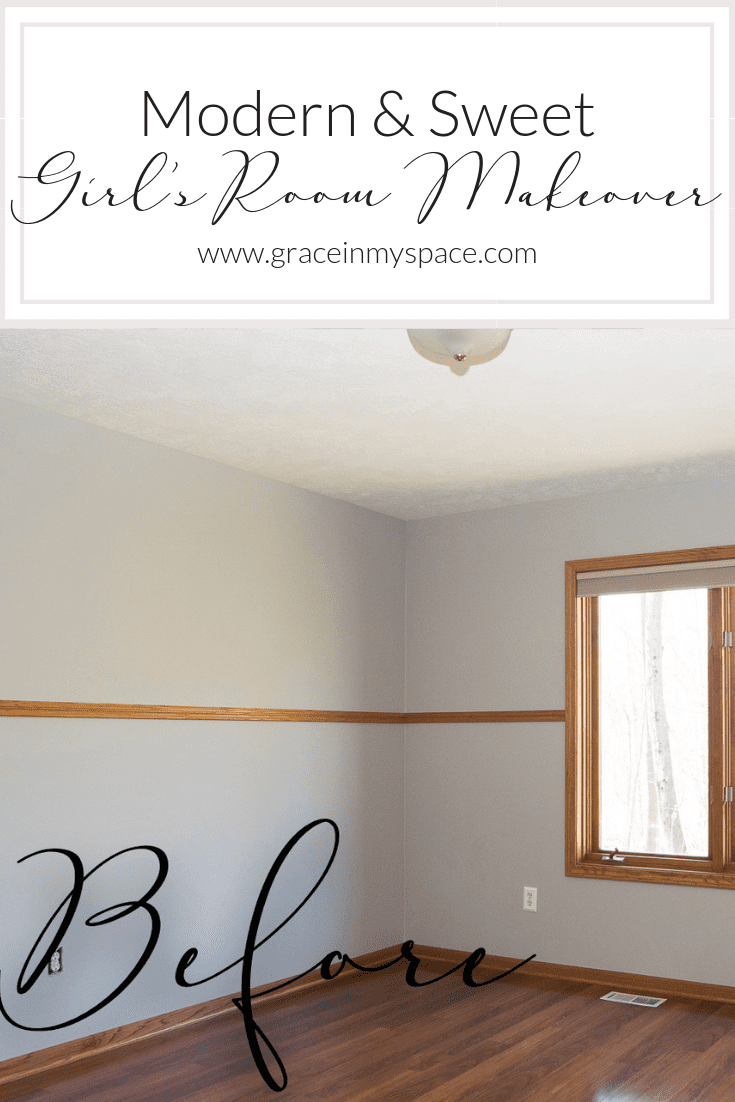 Do you want to create a beautiful girl's bedroom for someone special? See how I created structure and playfulness with design in my girl's bedroom reveal.