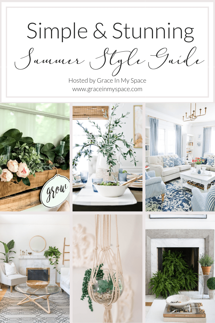 Are you looking for new ideas to keep your summer decor classic and stunning? Join me and 5 bloggers all sharing our simple and stunning summer homes. #fromhousetohaven #vintagedecor #summerdecor #officestyling