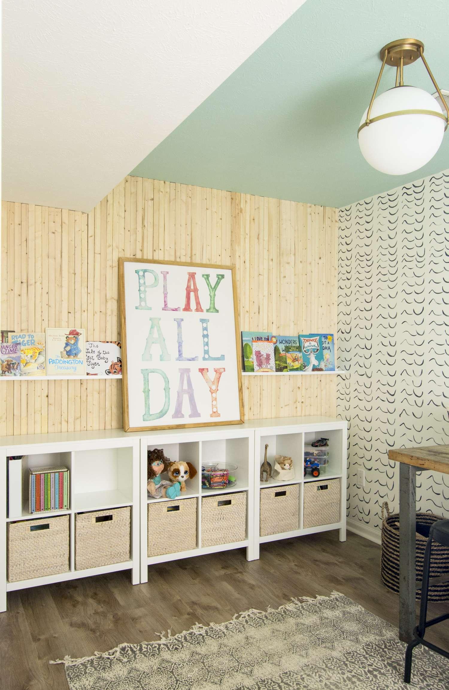 Kid's Playroom Furniture Storage