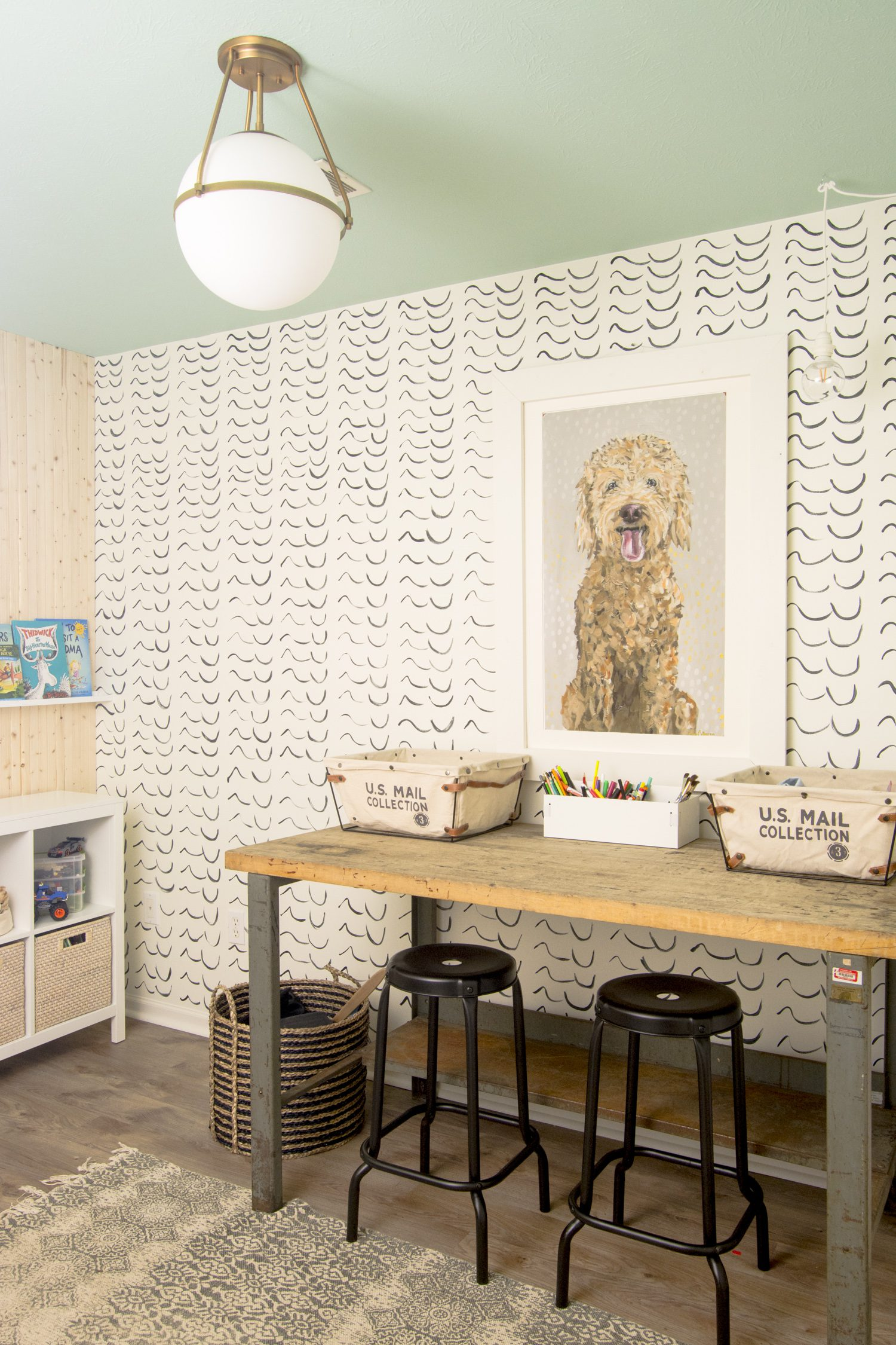 Kid's playroom and craft station makeover