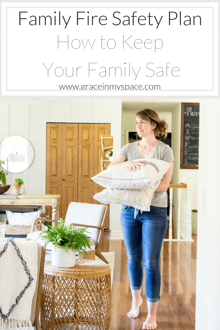 A home fire is a terrifying event. After enduring my own house fire, I am sharing how to develop a family fire safety plan so you can be prepared. #fromhousetohaven #firesafety #firesafetyplan