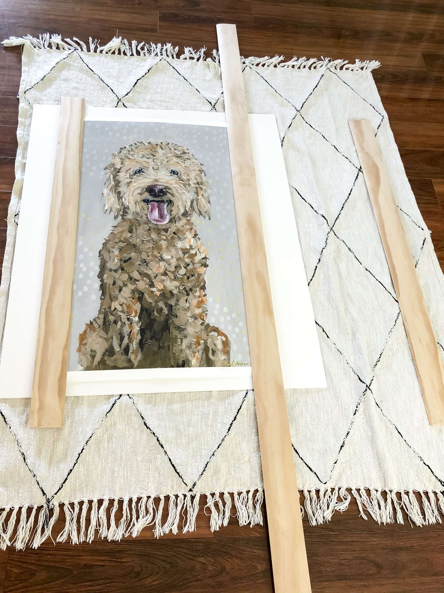 How To Build A Large Diy Picture Frame With Mat Grace In My E