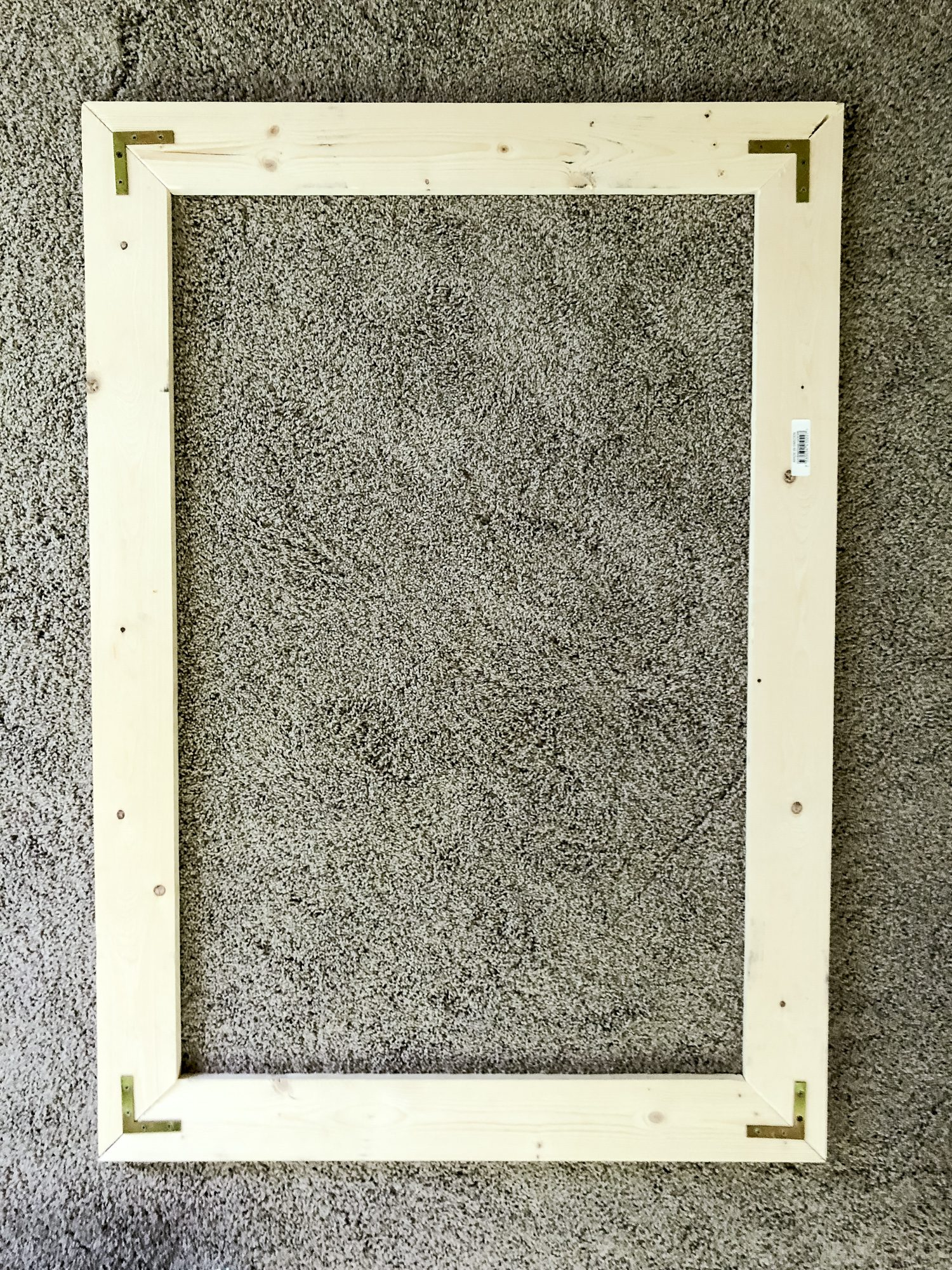 Corner brackets added to wood