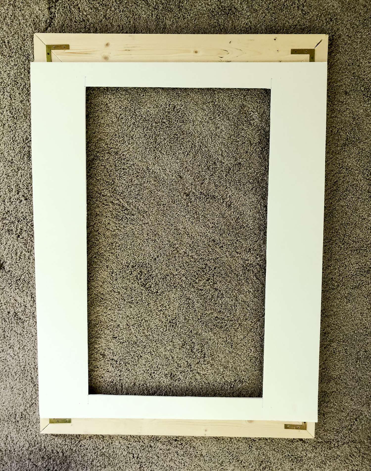 Attach mat level to the DIY frame