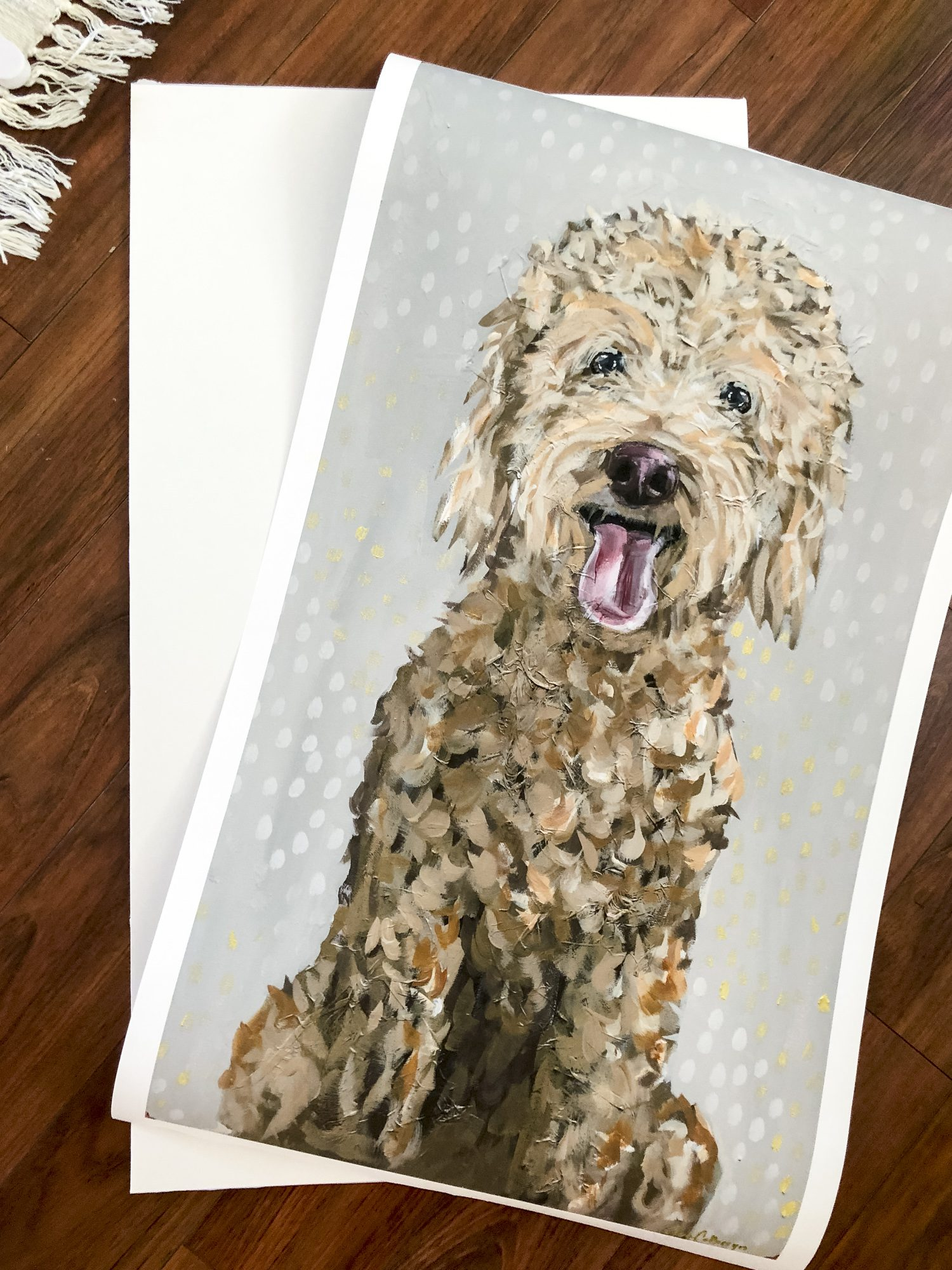 Attach your artwork to foam backing