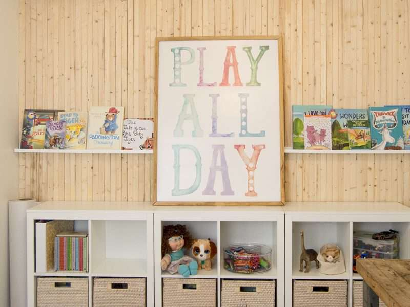 Kid's Playroom Design and Organization for Small Spaces