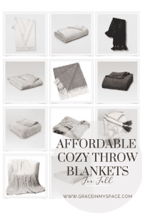 Affordable cozy throw blankets