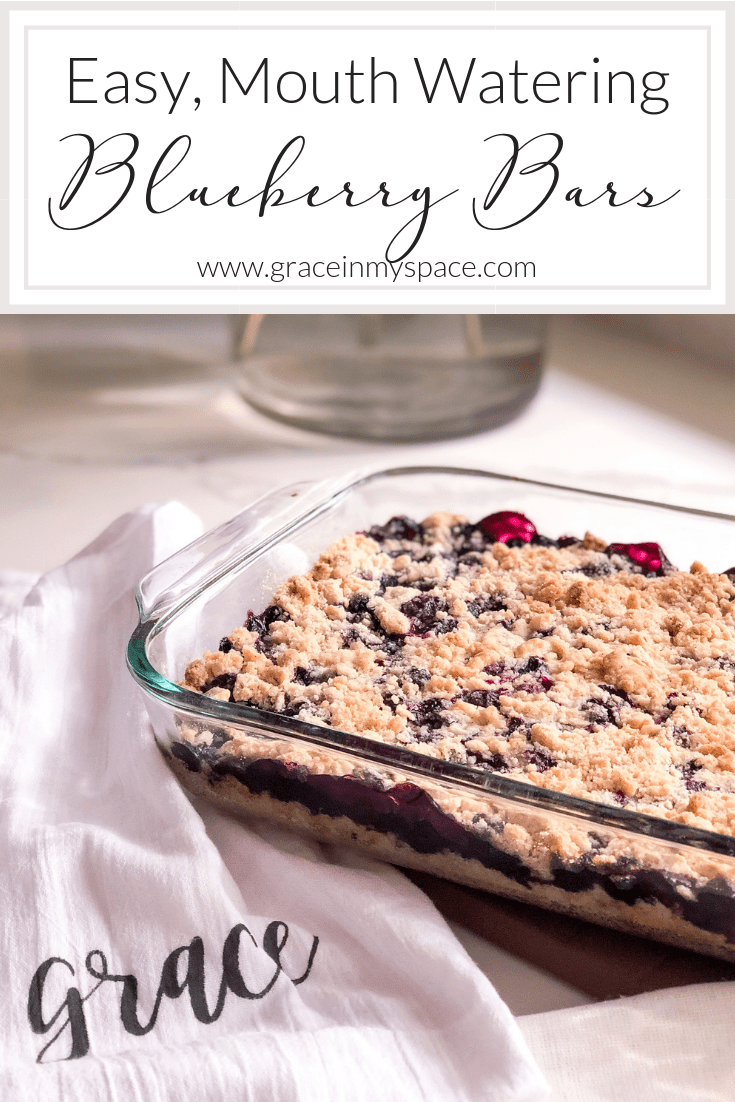 This easy recipe delivers mouth watering blueberry bars in short order! Serve up these blueberry squares with confidence to your friends and family. #fromhousetohaven #blueberrybars #blueberrycrumbbars #blueberryrecipes