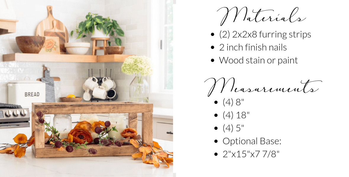 DIY Wood Centerpiece Materials List
