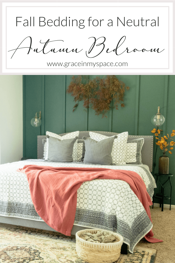 Do you decorate your bedroom for autumn? Here are 4 tips for using fall bedding as the anchor to a beautiful and warm neutral autumn bedroom.