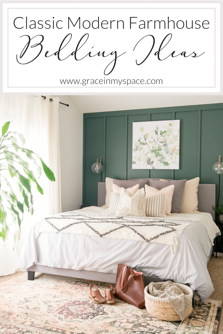 Have you ever wondered how to layer bedding to acheive a certain style? Here are three easy tips for styling classic modern farmhouse bedding.