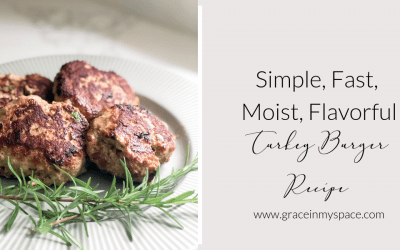 If you're looking for healthy dinner recipes then this is the perfect addition to your menu. This moist turkey burger recipe is simple, fast, and flavorful!