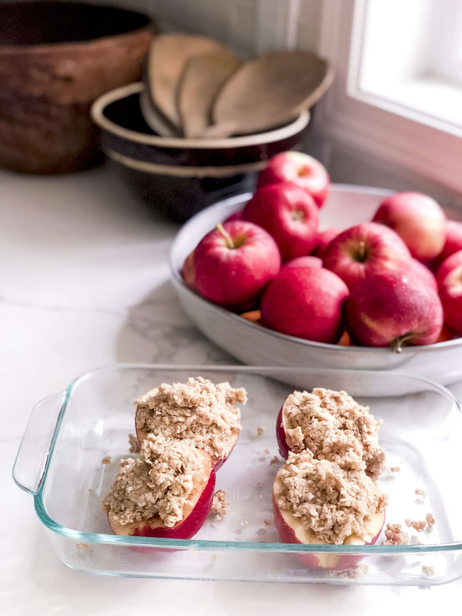 Apple recipe with crumb topping
