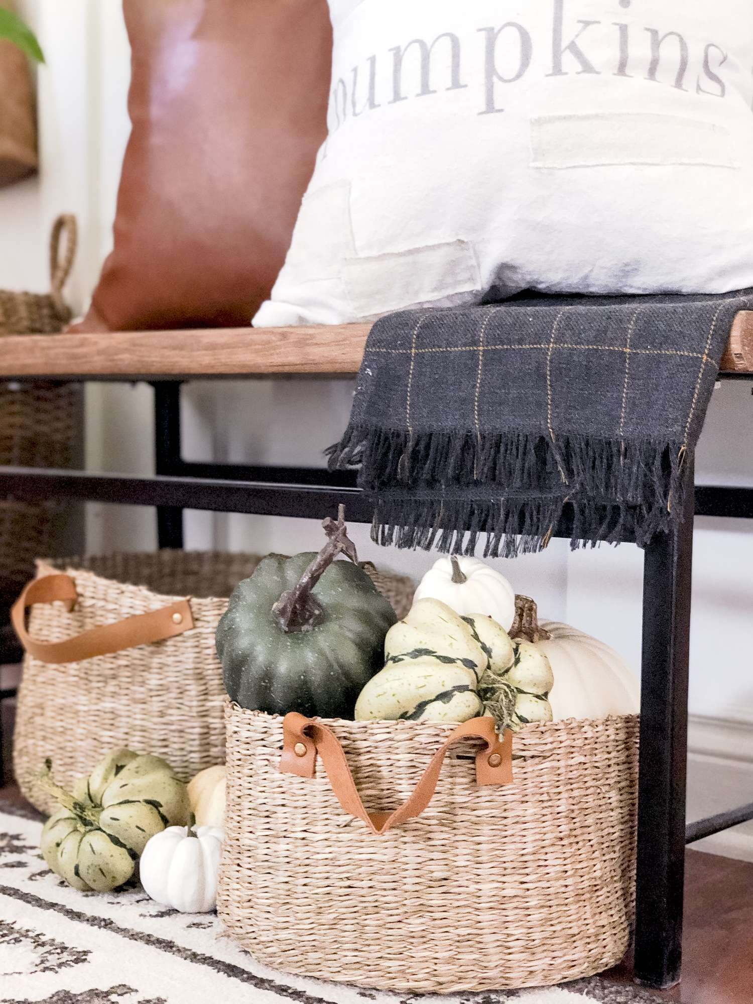 modern rustic decor fall accents