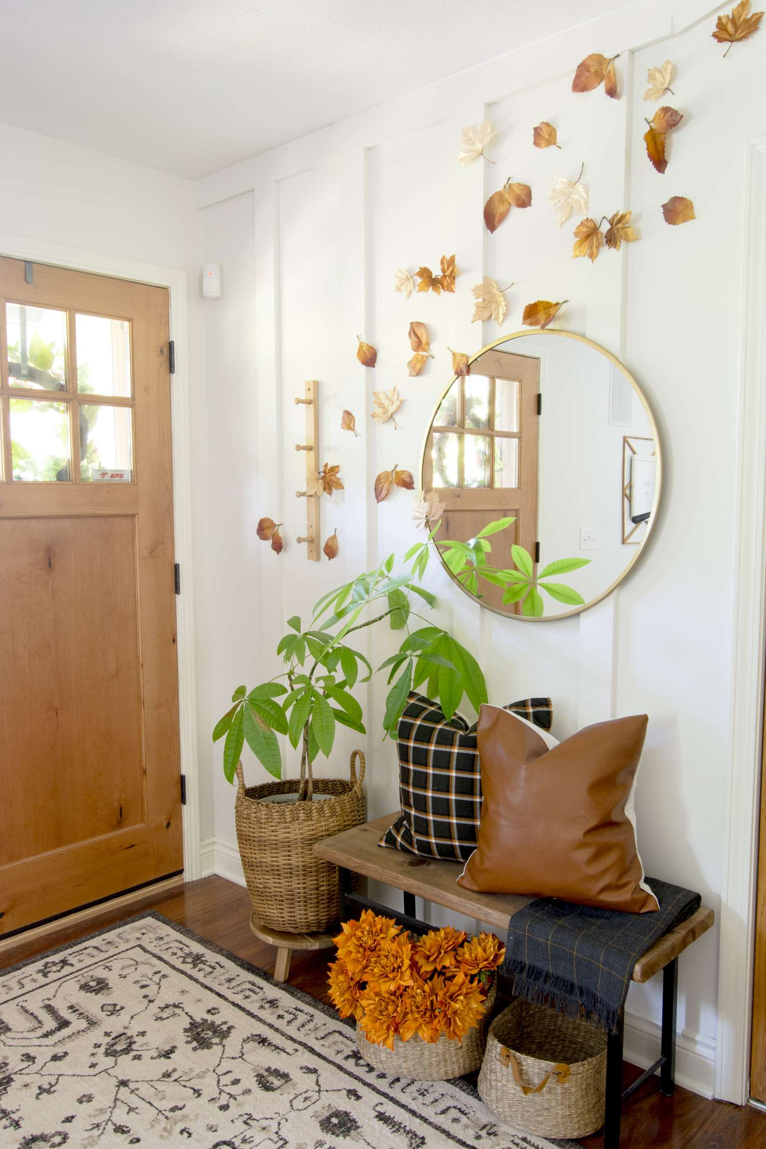 Diy Fall Decorations Simple Leaf Display Grace In My Space