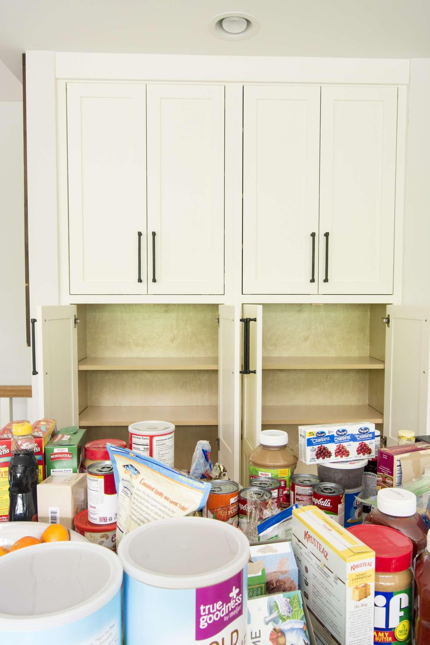Empty kitchen pantry