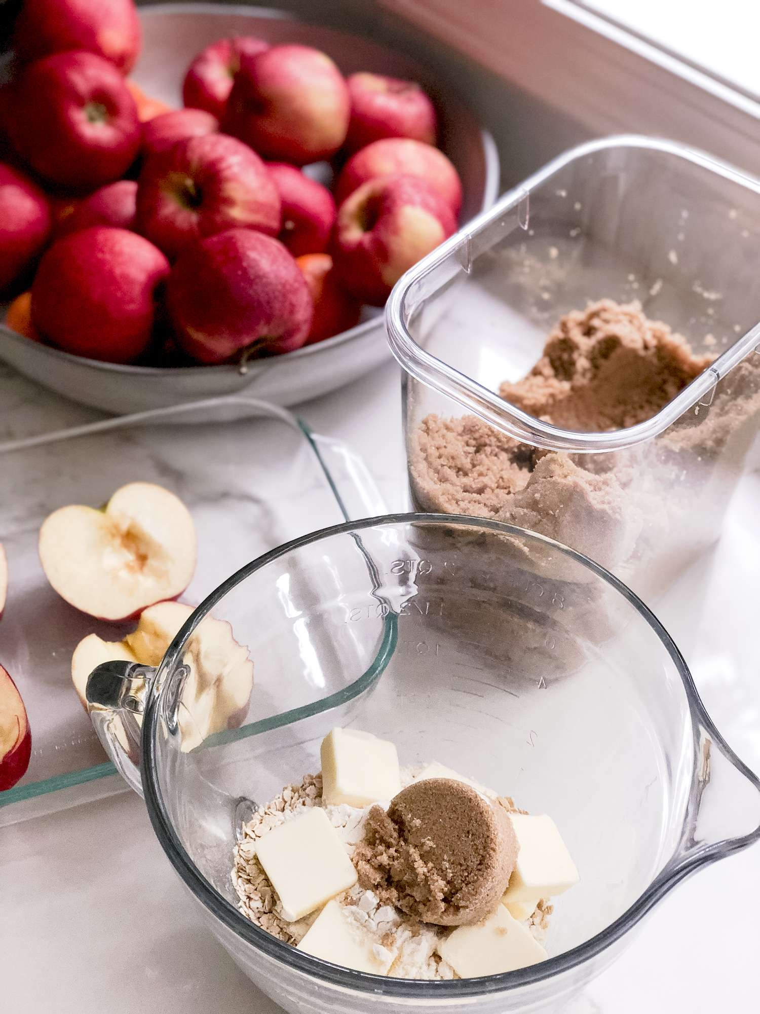 Baked apple recipe prep