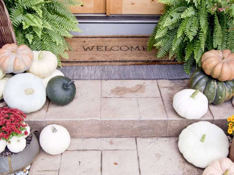 Effortless Front Door Decor Styled for Fall