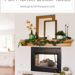 Fall decor can be over complicated! I'm sharing two ways to simply style fall mantel decor ideas inspired by nature. Style your fireplace mantel in minutes! #fromhousetohaven #fireplacemantel #manteldecorideas #fallmantelideas