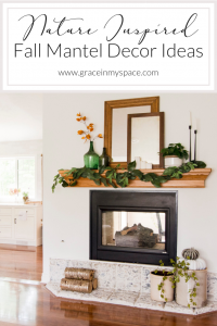 Nature Inspired Fall Mantel Decor Ideas | Grace In My Space
