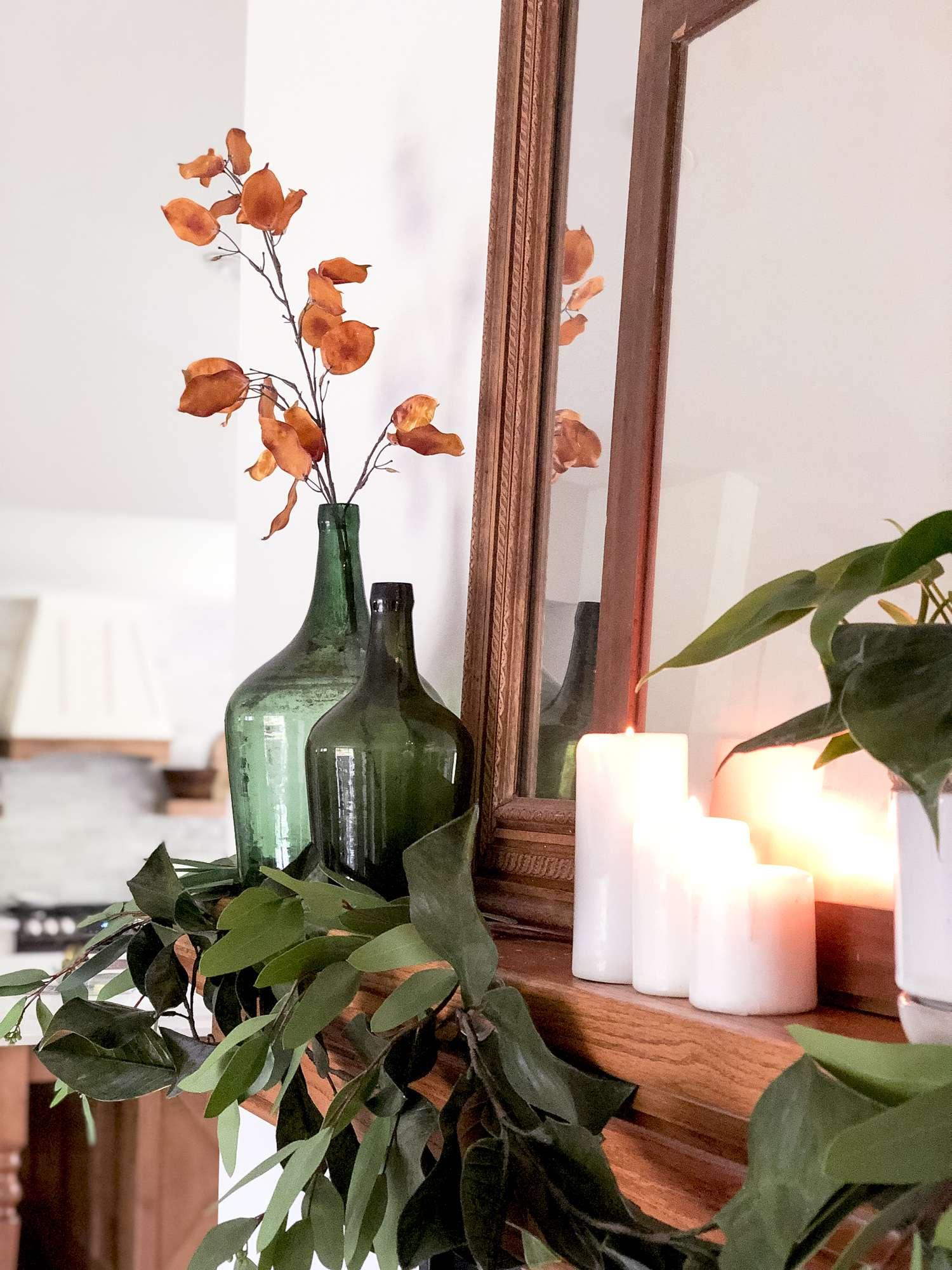 Fall Garland Design for mantel decor ideas