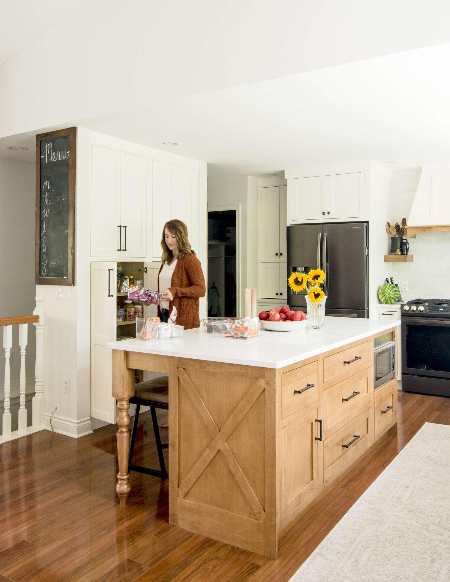 Kitchen Pantry Ideas in a modern farmhouse kitchen