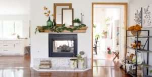 Fall decor can be over complicated! I'm sharing two ways to simply style fall mantel decor ideas inspired by nature. Style your fireplace mantel in minutes!