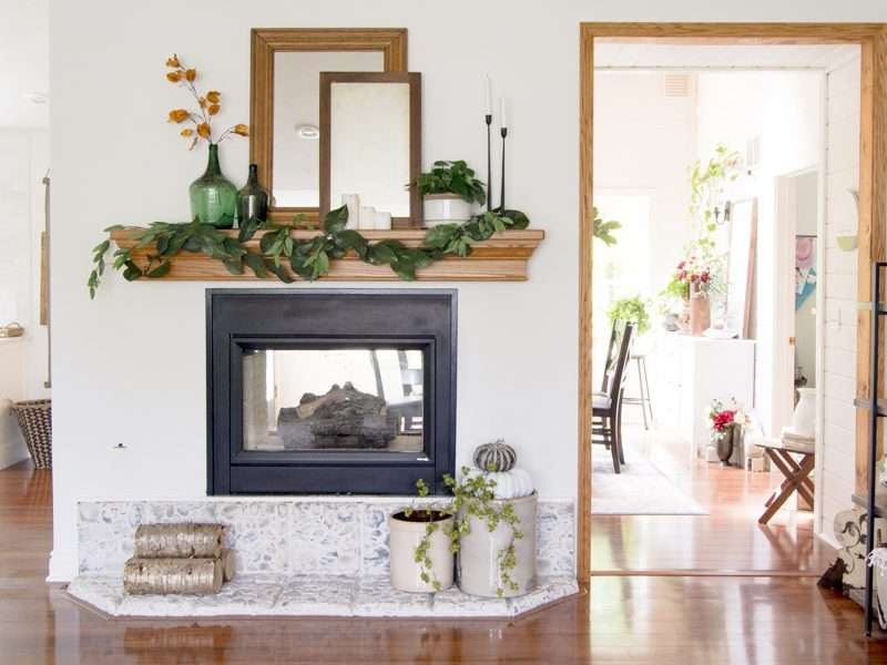 Nature Inspired Fall Mantel Decor Ideas
