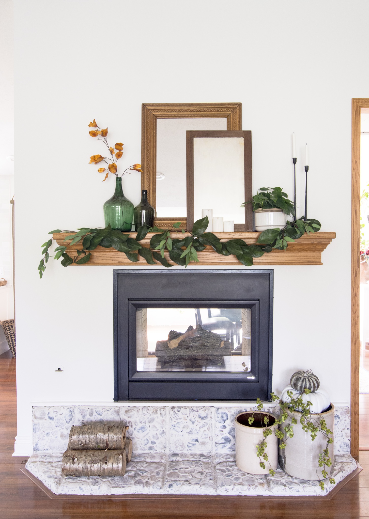 mantel decor ideas for fall