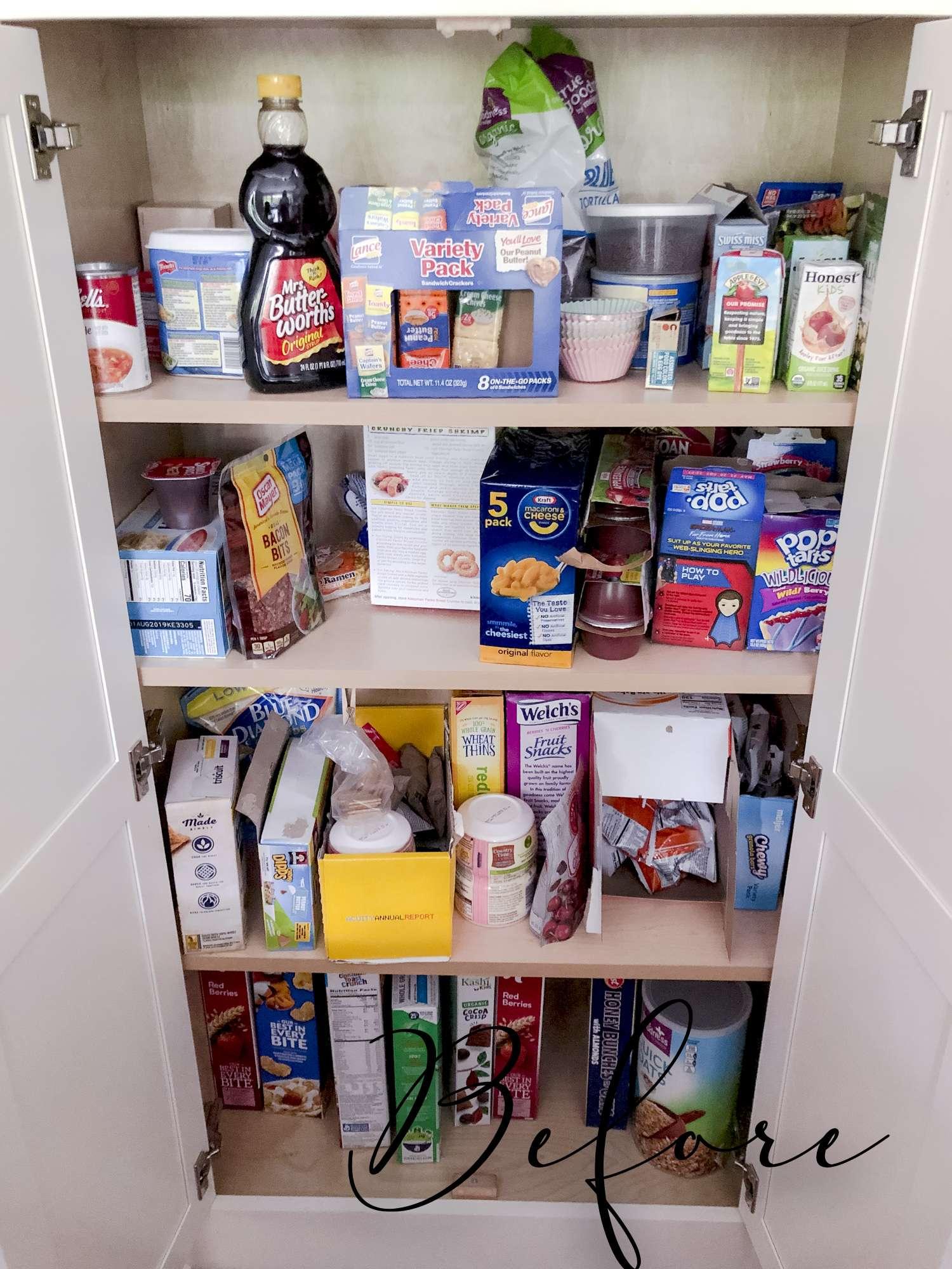 Disorganized Kitchen Pantry
