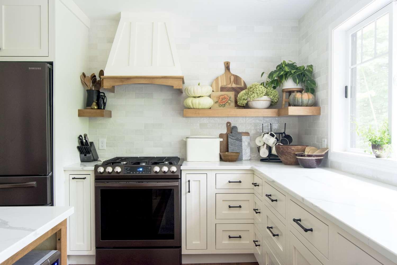 Kitchen Shelf Decor for Fall