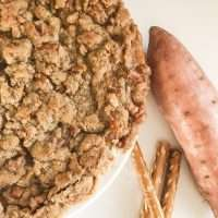 Old Fashioned Sweet Potato Pie with Pretzel Crumb Topping