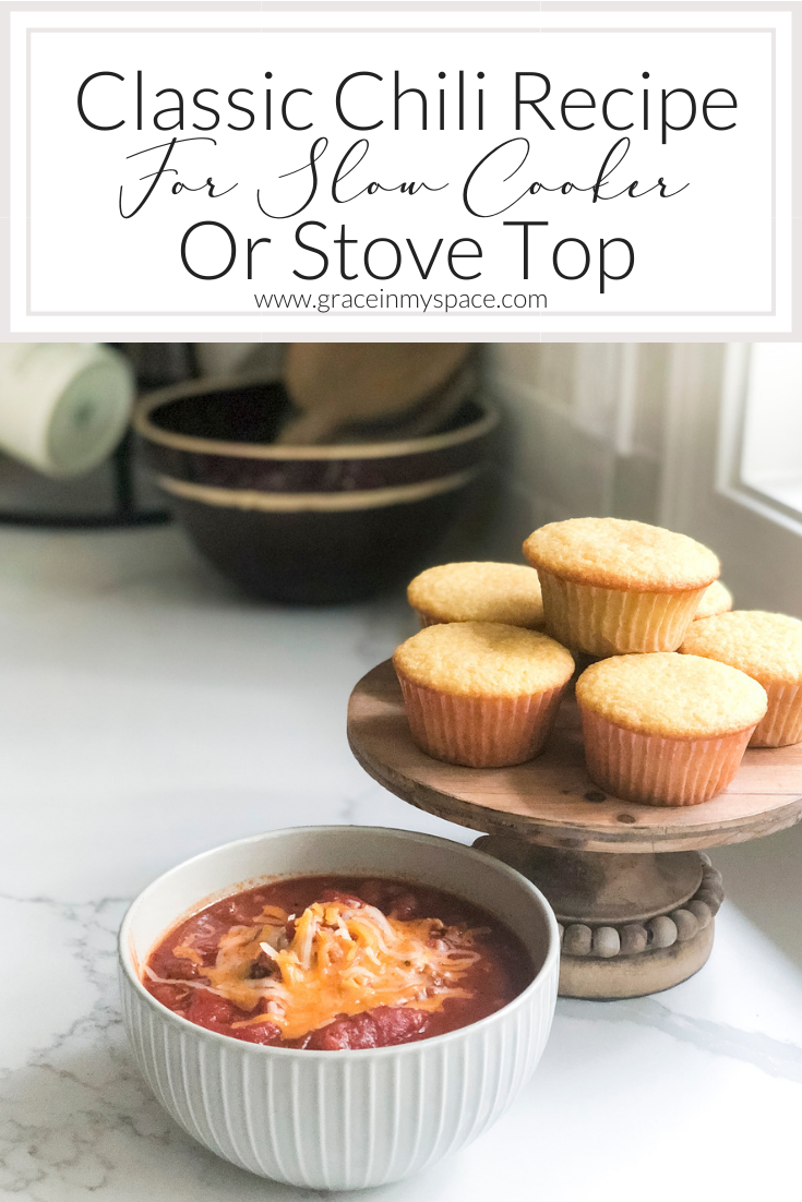 Classic Chili Recipe for Slow Cooker or Stove Top
