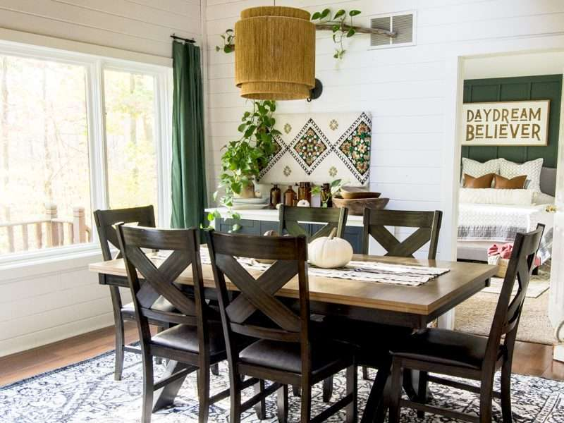 Modern Farmhouse Dining Room Makeover | 2 Days – 290 Dollars