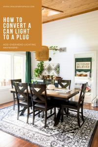 After years of searching for a way to hang a light over my skylight with no electical, I found a solution! Here's how to use a pendant light kit to install lighting for less than $30!