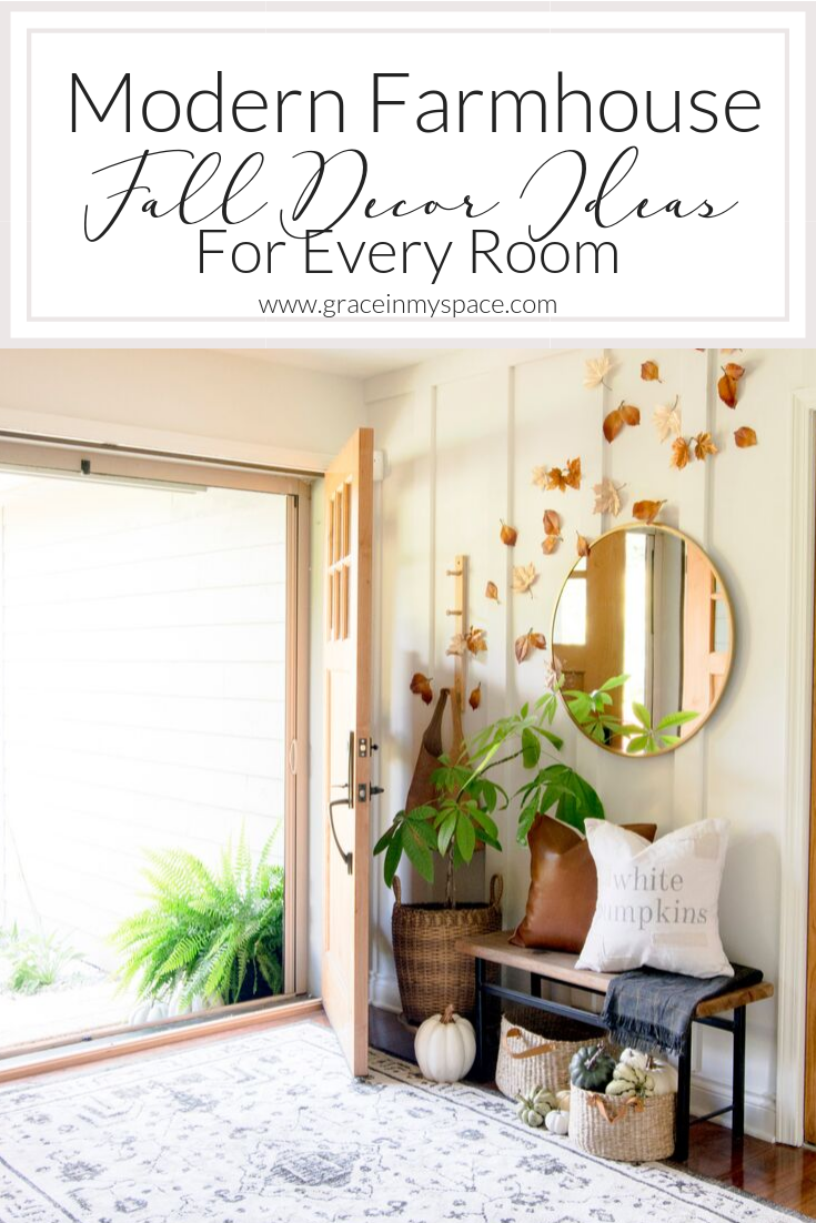 The modern farmhouse design style is a new classic. Here are 4 manageable and effortless ways to add touches of modern farmhouse fall decor in every room.