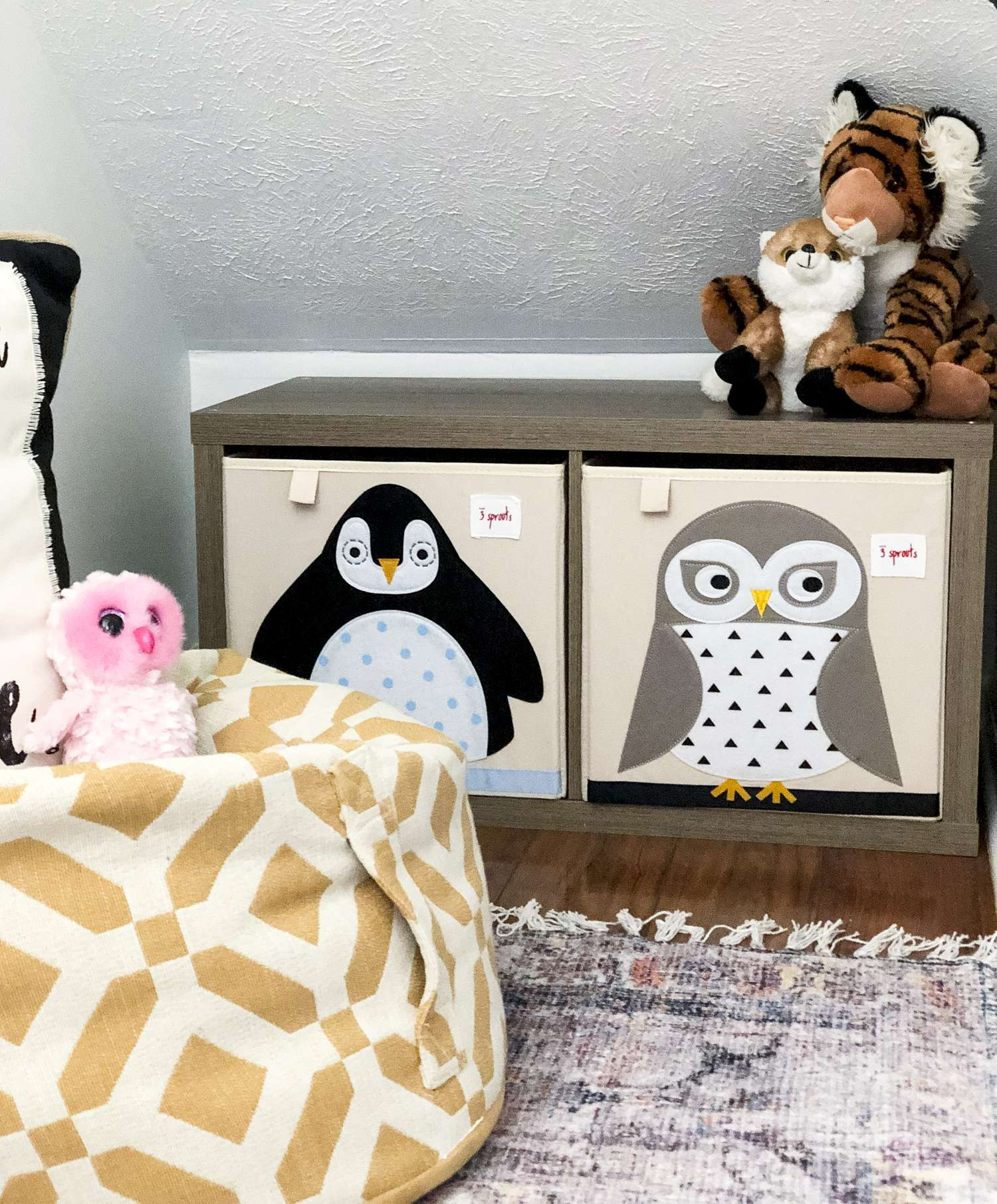 Toy storage bins for small spaces.